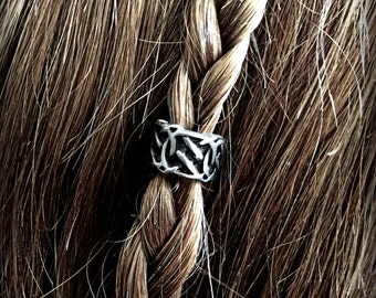 Hair bead kit 'Tribal Thorns' Bead viking hair bead Steampunk tribal silver Celtic hair bead goth viking jewelry STAINLESS STEEL