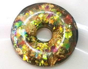 Donut pendant mix handmade resin