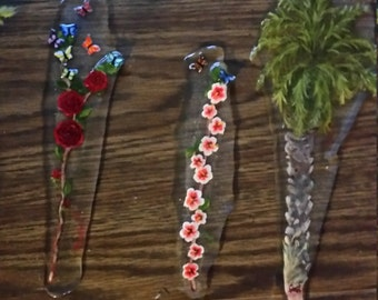 Resin Bookmarks (Various designs)