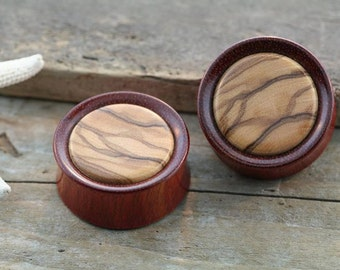1 1/4 or 32mm Bloodwood with Olivewood Inlay