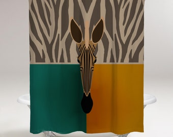 Zebra Stripped Shower Curtain
