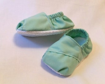 Baby toms, pastel baby shoes, baby shoes, crib shoes, baby gift, baby girls shoes, baby boy shoes, fabric baby shoes