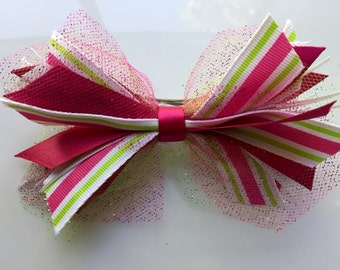 Cute Ribbon and Tulle Bow