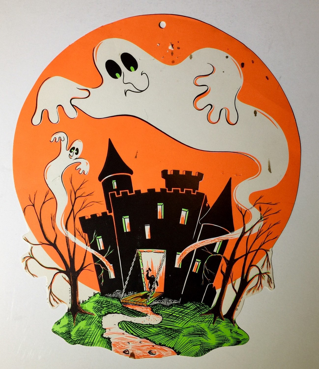 Vintage halloween paper decorations - Sold By Houseofthefound