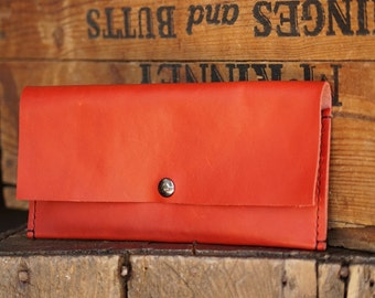 GRAND OPENING SALE! Women's Wallet/ Red Leather Wallet/ Leather Money Pouch/