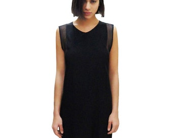 Anvy Black Silk Dress - Sample Sale - Made In New York