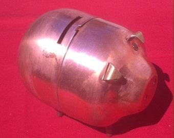 Vintage Copper Piggy Bank, Copper Swine Bank, Copper Piggy Bank, Vintage Bank