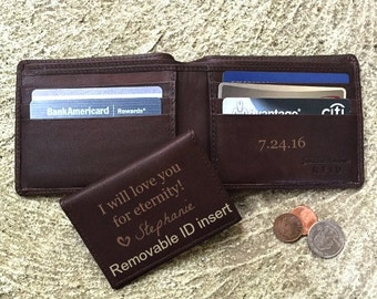 Personalized gift for husband •  unique gifts for men • birthday gifts for him • Personalized wallet • gift for boyfriend • Brown** 7150