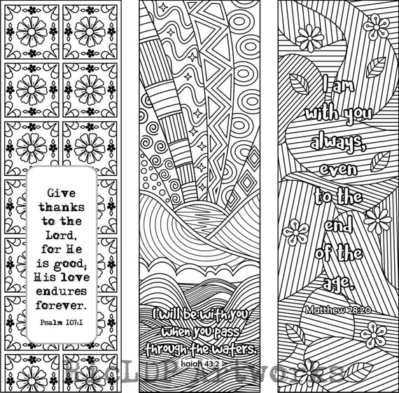 6 Bible Verset Coloriage Marque Pages Plus De 3 Modles Avec