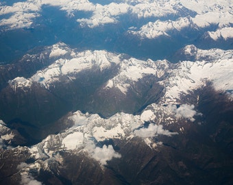 The Alps from the sky