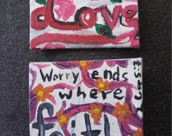 Love & Faith (2 Mini Plaques)