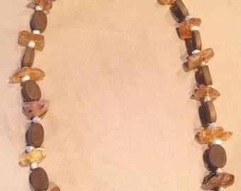 Raw Amber stone necklace