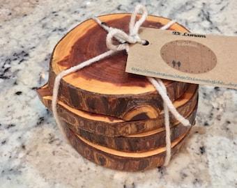 Cedar - Wooden Coasters x4