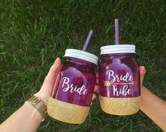 Bride Tribe Mason Jar Tumbler
