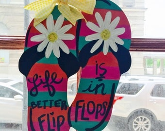 Wood Flip Flop Door Hanger