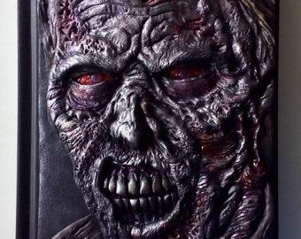 A5 Walking Dead, polymer clay journal, horror, zombie, undead, 98 blank sheets