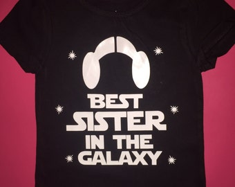 Star wars best sister in the galaxy shirt