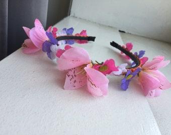 Cute Pink Orchid Flower Crown