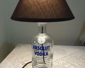 ABSOLUT VODKA glass bottle lamp