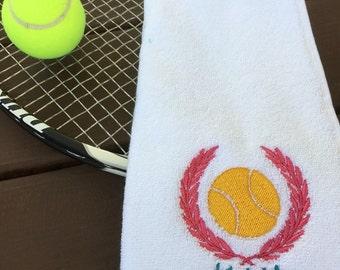 Tennis Monogrammed Towel, Sports Towel, Monogrammed Sports