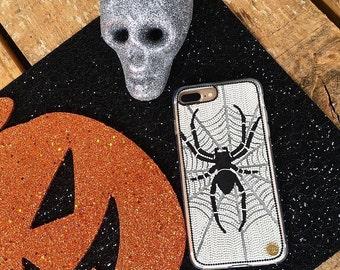 Halloween iPhone Case, Spider Phone Case, Galaxy S7 Case, iPhone 7 Case, Halloween Accessories, Spiderweb Phone Case, Handmade iPhone 6 Plus