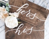 His & Hers Chair Signs