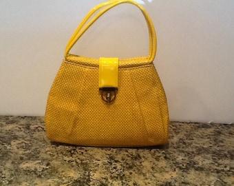 Vintage Bright Yellow Handbag
