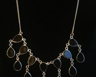 Sterling & Black Onyx Necklace