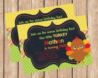 Little Turkey Invitation