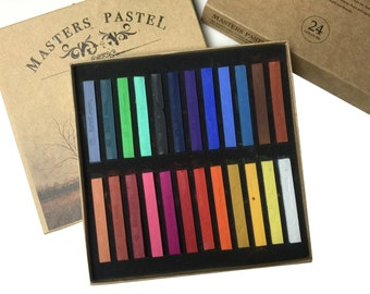 Masters Colored Square Pastels, Temporary Hair Color stick Soft Pastel Drawing Pastel