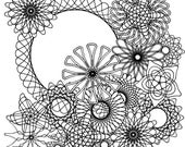 Spirograph coloring page
