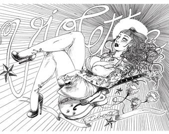Rock'n'Violette - François Amoretti - Violette #2 - A4 print