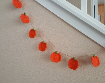 Pumpkin Bunting Banner Home decor Crochet Handmade