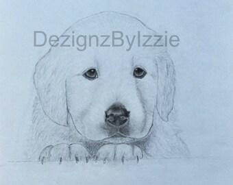 Custom Pet Portrait (11x14 inches)