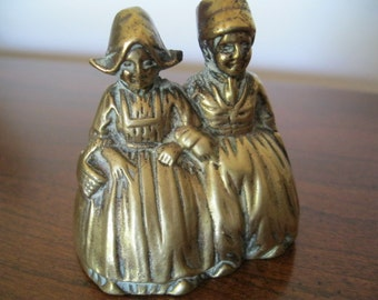 BRASS BOY and GIRL bell vintage from Holland