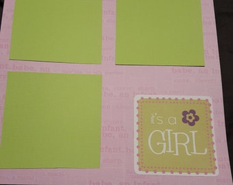 Its a girl scrapbook page