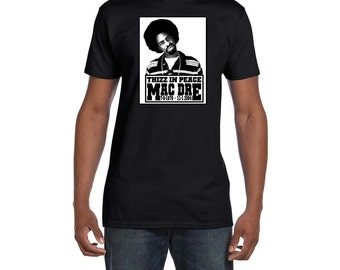 Mac Dre Thizz In Peace T Shirt Classic Hip Hop Bay Area CA. Rap Music RIP Tee Vintage Style Shirts New Rapper