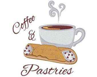 Coffee & Pastries - machine embroidery design