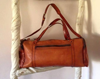 Moroccan Leather Bag Carry On Luggage Size