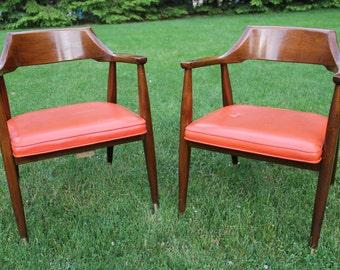 Mid-Century Modern Jasper Chair Co. Arm Chairs