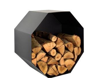 Metal Firewood Holder - Octagon