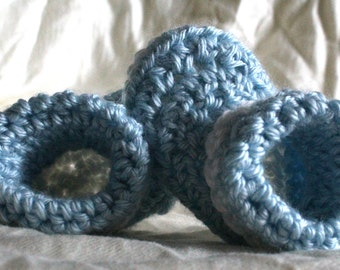 Cuffed Crocheted Baby Booties