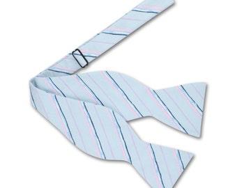 Blue Bow tie. Mens Bow tie.