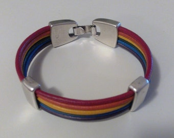 LEATHER BRACELET. Gay Pride day