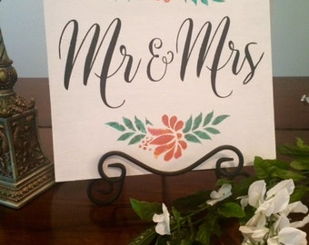 Mr And Mrs Wedding Sign- Wedding Sign Mr And Mrs-Rustic Wedding Sign-Boho Wedding