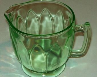 Vintage Bartlett Collins Green Creamer Twitch Pattern