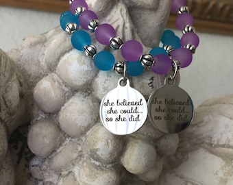She Believed She Could Charm Bracelet