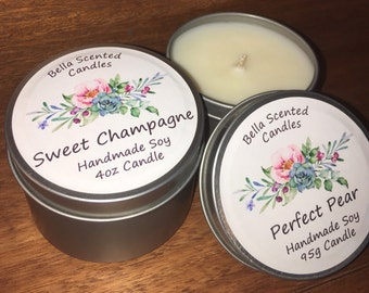 Bella Scented Candle / Soy Candle / 4oz Tin