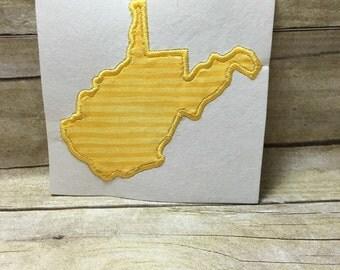 West Virginia Applique, West Virginia Embroidery Design Applique