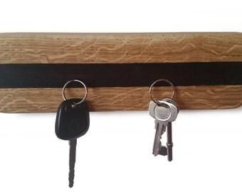 Oak and Exotic Wood Magnetic Key Holder